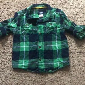 Flannel plaid toddler boy shirt
